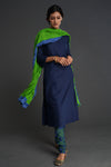 Churidar and Dupatta Set Parrot Green Indigo (4877584597039)