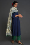 Pant and Dupatta Set Green