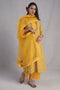 Collar Kurta Beige Yellow