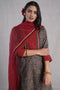 Collar Kurta Grey Maroon