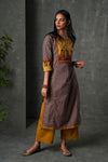 Blue Ochre Yellow Kurta