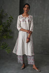 Cream Seri Kurta