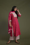 Pink Embroidered Yoke Kurta