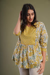 Off White Ochre Yellow Kurti