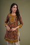 Brown Rust Green Kurti