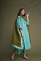 Sea Green Pintuck Yoke Kurta