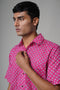 Pink Printed Classic Shirt (4378981564463)
