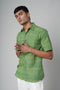 Green Printed Classic Shirt