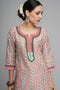 Sea Green Peach Seri Kurta
