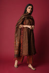 Copper Brown Chanderi Kurta
