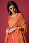 Red Orange Silk Kurta