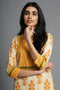 Ochre Yellow Pintuck Kurta