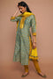 Seri Kurta - Teal Yellow