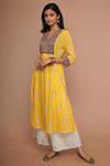 Angrakha Kurta - Yellow