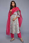 Light Blue Pink Banjara Kurta