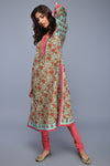 Sea Green Rouge Pink Cotton Kurta