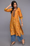 Mustard Red Seri Chanderi Kurta