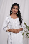 White Grey Chamba Kurta