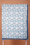 Blue White Cotton Reversible Double Dohar