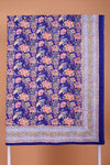 Indigo Printed Single Bed Cover