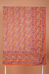 Orange Mauve Printed Double Dohar