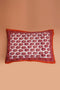 Orange Printed Pillow Cover