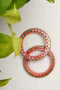 Peach Cutwork Lac Bangles (Set of 2)