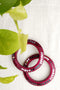 Rani Pink Glass Lac Bangles (Set of 2)