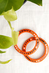 Orange Glass Lac Bangles (Set of 2)