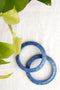 Blue Lac Bangles (Set of 2)