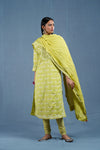 Lemon Green White Kurta