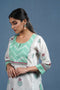 Off White Pista Green Kurta