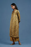 Modal Silk Ochre Collar Button Kurta