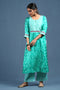 Sea Green White Kurta
