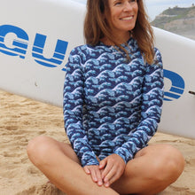 Load image into Gallery viewer, Bronte Long Sleeve Swimsuit in Kingtide