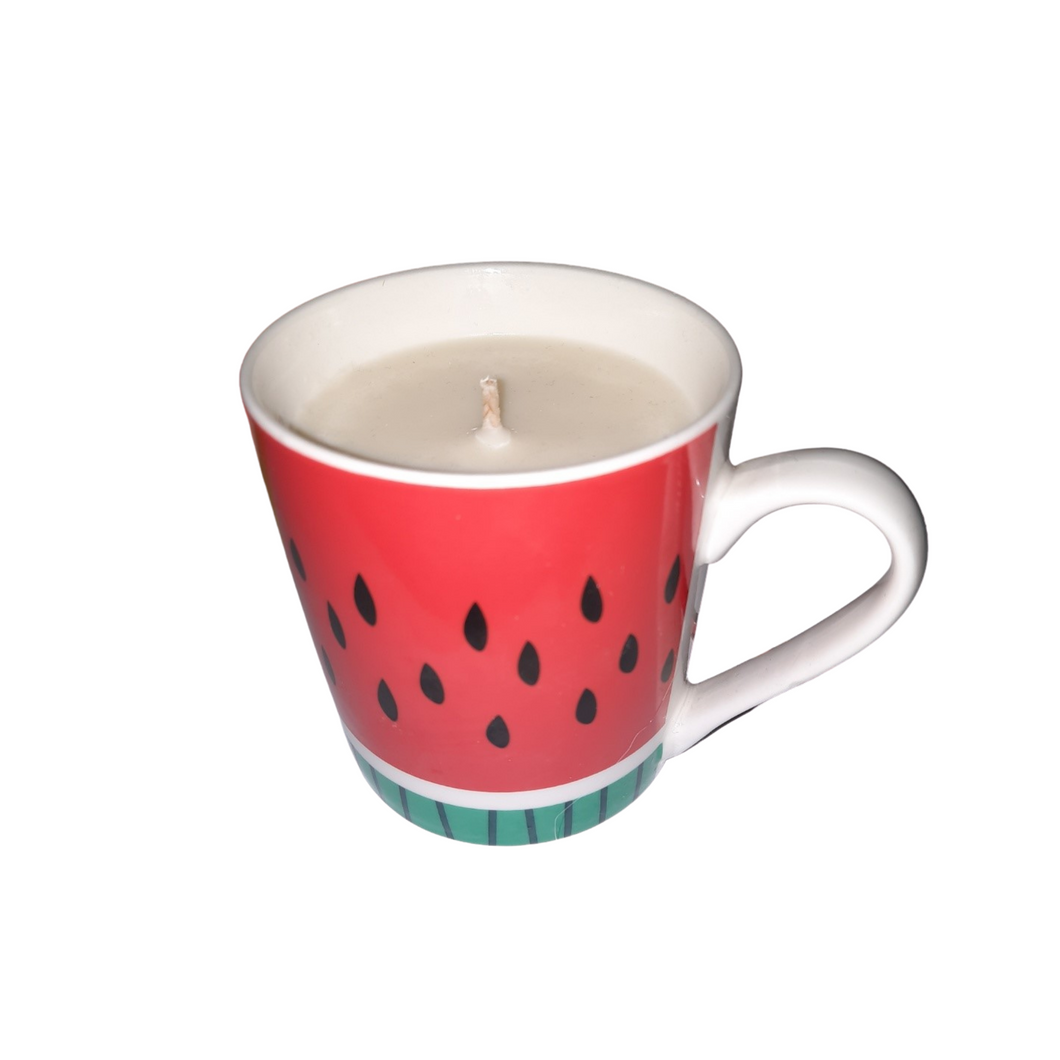 Watermelon Scented Candle in a mug