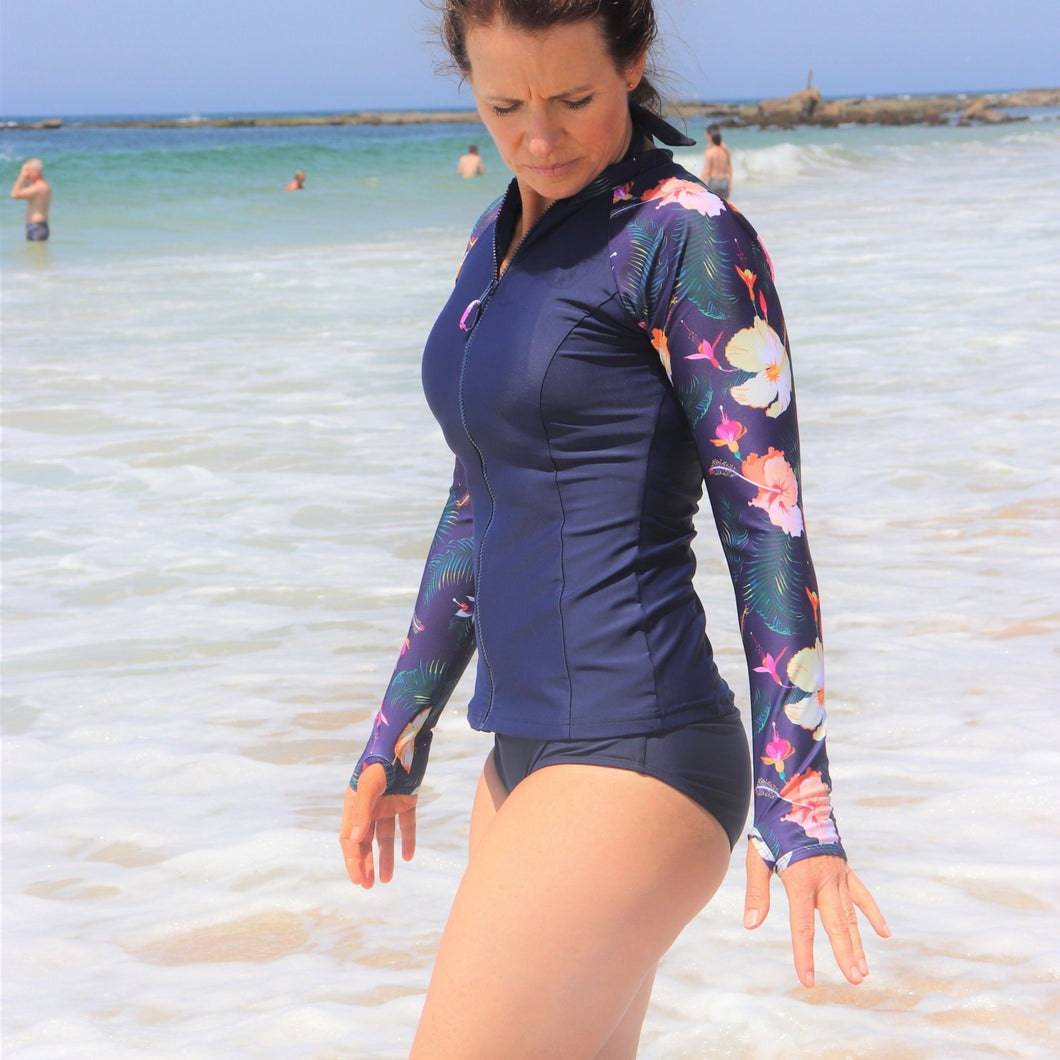 Salt Long Sleeve Rash Vest in Summer Holiday