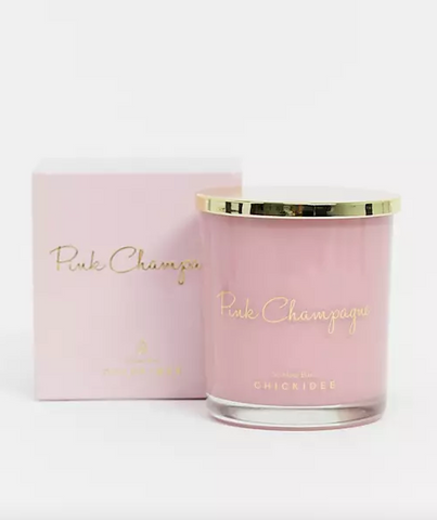 Pink Champagne candle