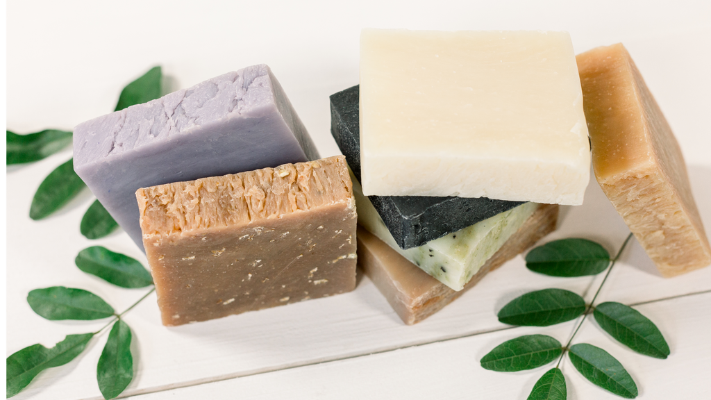 Organic All Natural Soap Collection - Gift Set and Soap Sack - 6 Pack