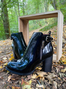 Bottines Cindy Noires/Vernies