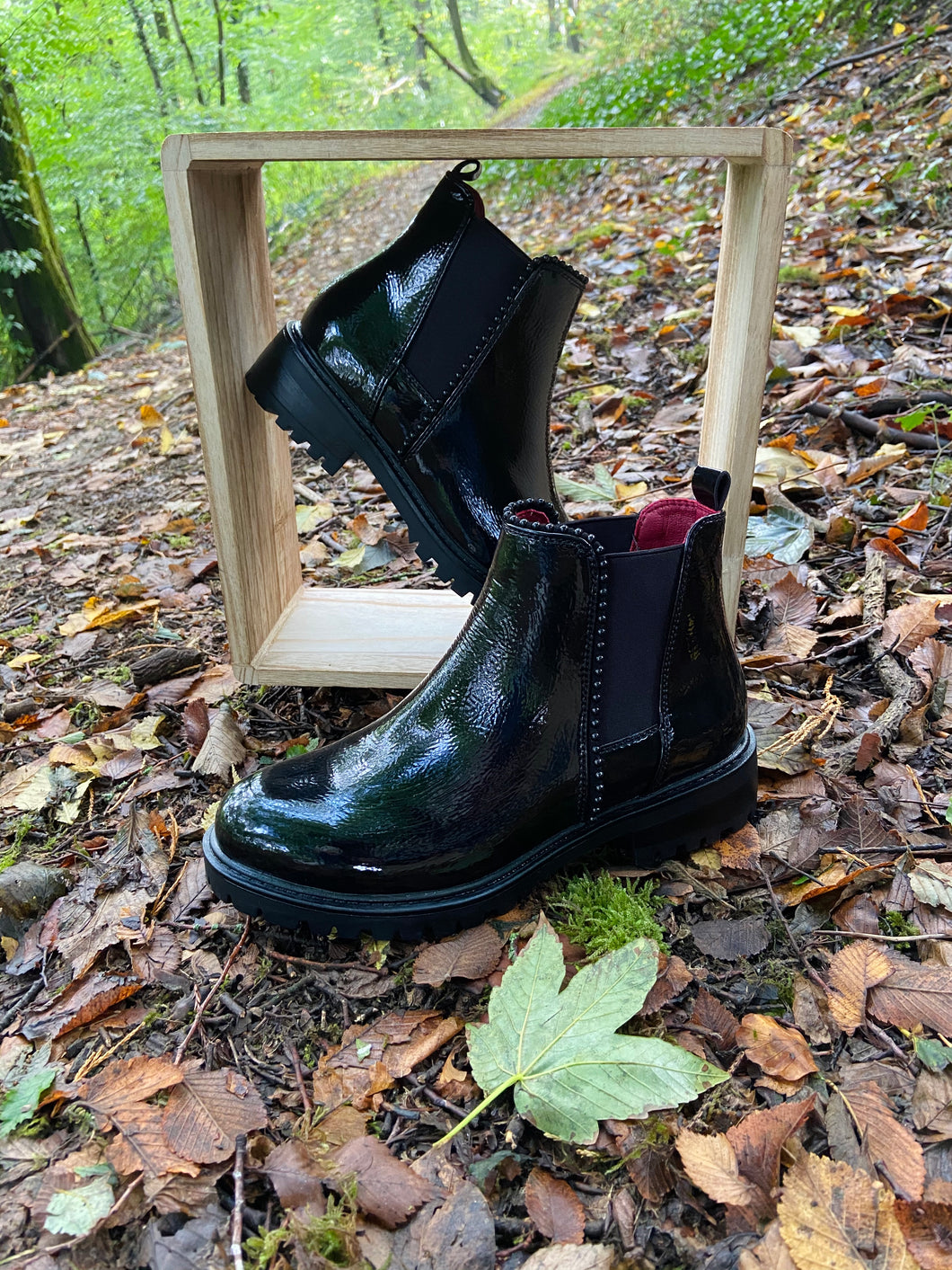 Bottines Ines Noires/Vernies