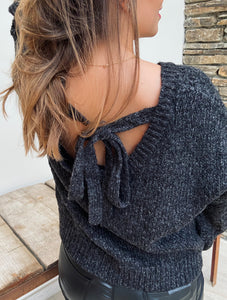 Pull Poly à noeud Gris