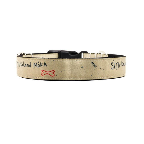 Seta kaland moka sand Buckle Collar - 20mm wide