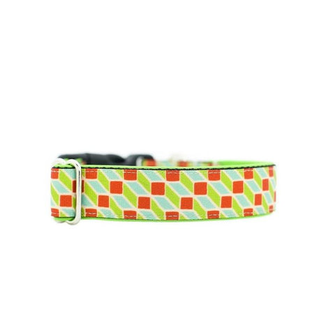 Cube Buckle Collar - 20mm wide - sixfeetdogwear