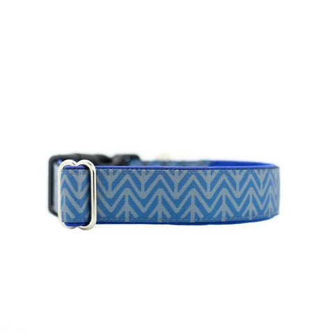 Chevron Buckle Collar - 20mm wide - sixfeetdogwear