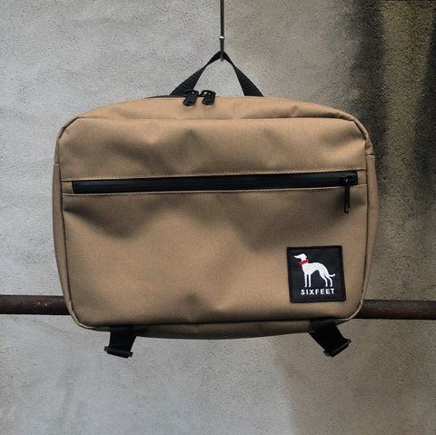 Waterproof walkbag - khaki - sixfeetdogwear