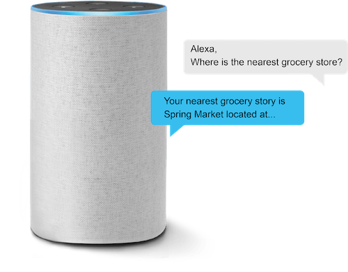 amazon alexa voice search business listing