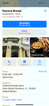APPLE MAPS BUSINESS LISTING
