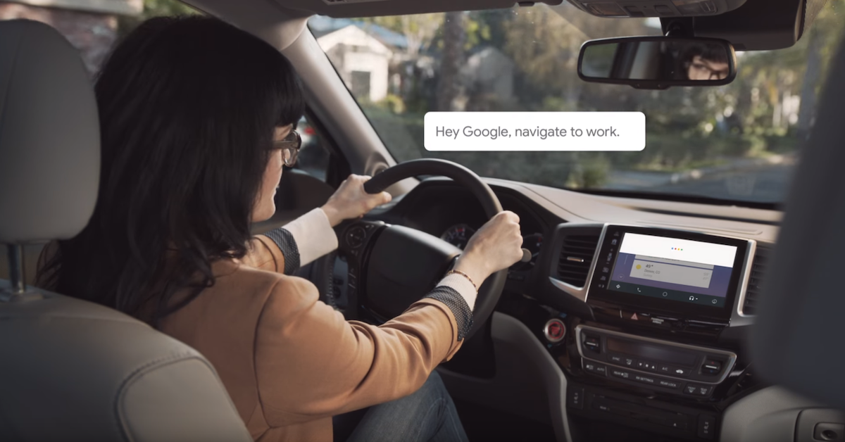 Google Assistant while driving