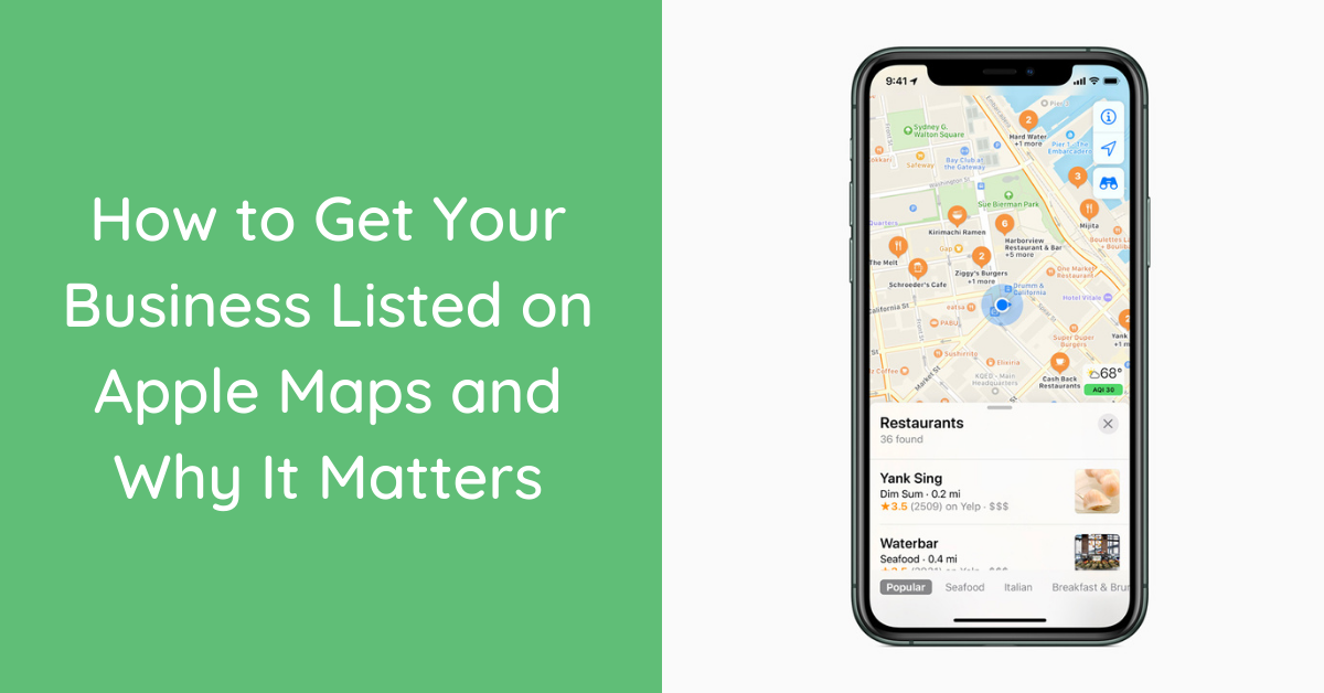 how to get business on apple maps